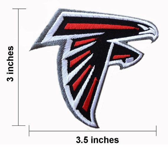 Atlanta falcons embroidered iron on patch by noieasyshop
