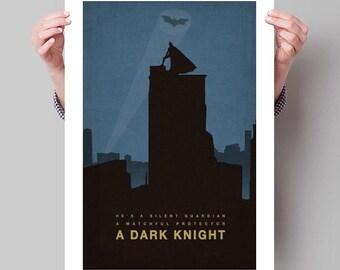 """BATMAN Inspired The Dark Knight Minimalist Movie Poster Print - 13""""x19"""" (33x48 cm)"""