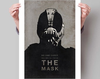 "BATMAN The Dark Knight Rises Inspired Bane Movie Poster Print - 13""x19"" (33x48 cm)"