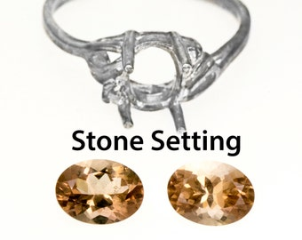 "Stone Setting For Our Sterling Silver ""Ring Only"" Items"