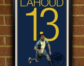 Michael Lahoud Poster - Philadelphia Union  - MLS Soccer Poster- 8x10, 13x19, poster, art, wall decor, home deccor, gift, union