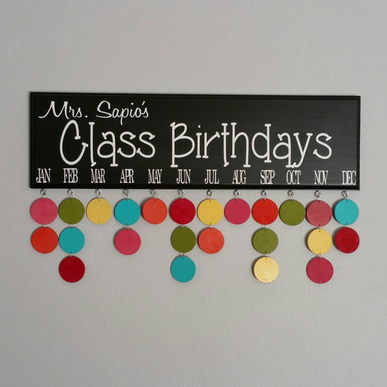 Classroom Birthday Ideas ~ Class birthdays calendar teacher classroom