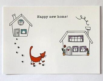Happy new home | Postcard | Illustration