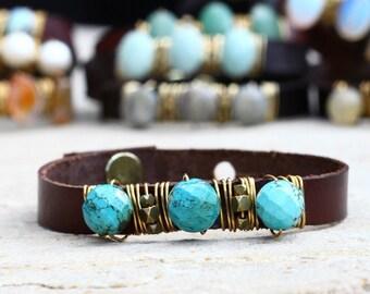 Turquoise Skinny Cuff Bracelet