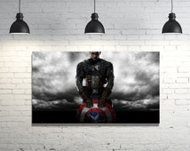 "Captain America Poster 26""x15"" inch printed wall art"