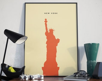 New York, Statue of Liberty, Print. A3 Poster.