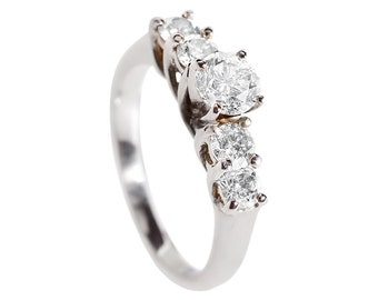 Diamond eternity ring-Eternity wedding band-Diamond Engagement Ring-14K White Gold Ring-Wedding band-StaStackable Rings-Multistone ring