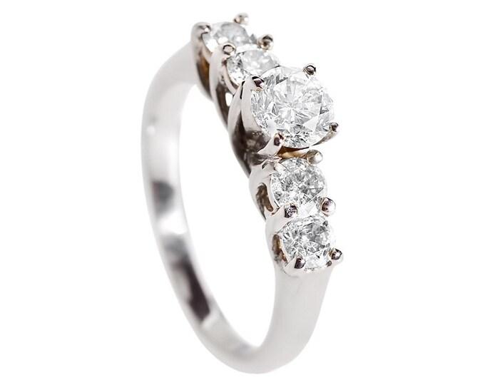 1 carat Diamond eternity band art deco-Diamond eternity ring-White Gold Ring-Wedding band-Multistone ring-Celtic wedding band-Promise ring