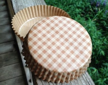 "Welcome Home Brands Ruffled Baking Cups • Quiche/Tart Bakers  • 3.9"" Wide x 1.2"" High •  Mini Pies•  Disposable •  Oven Safe • Check"