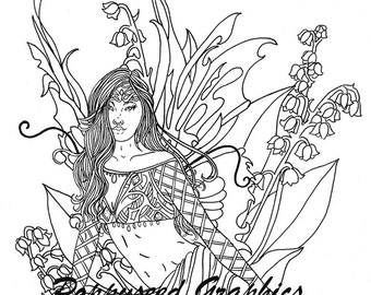 Fairy of May Digital Stamp