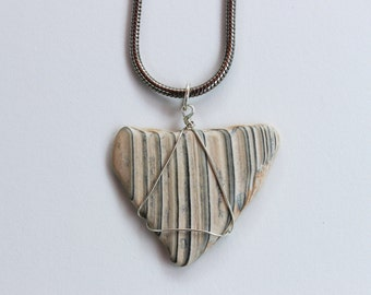 Striped Shell Necklace