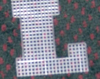 4 inch pre cut plastic canvas letters L