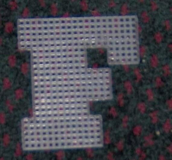 4 Inch Pre Cut Plastic Canvas Letters F