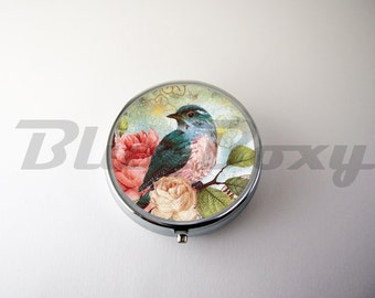 The Bird Pill Case, Pill Box, Pill Holder