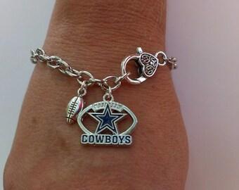 dallas cowboys paracord bracelet with licensed charm double. Black Bedroom Furniture Sets. Home Design Ideas