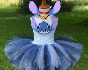 Lilo & Stitch Inspired Stitch Tutu Dress Costume for Birthdays, Pageants, Photos, Halloween
