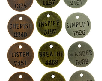 Philosophy Tags by Tim Holtz (Pkg of 12)  (EB2001)