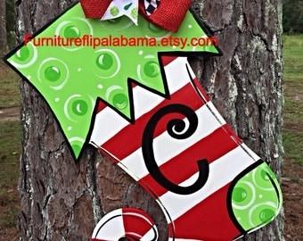 Christmas door hangerchristmas tree door hanger personalized
