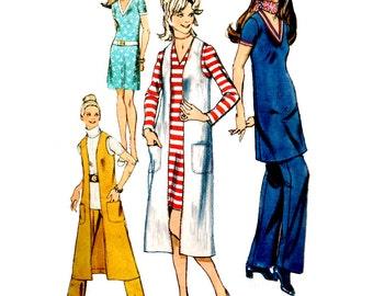 Simplicity Sewing Pattern 9183 Misses' Dress, Midi-Vest-Coat, Pants  Size:  16  Used