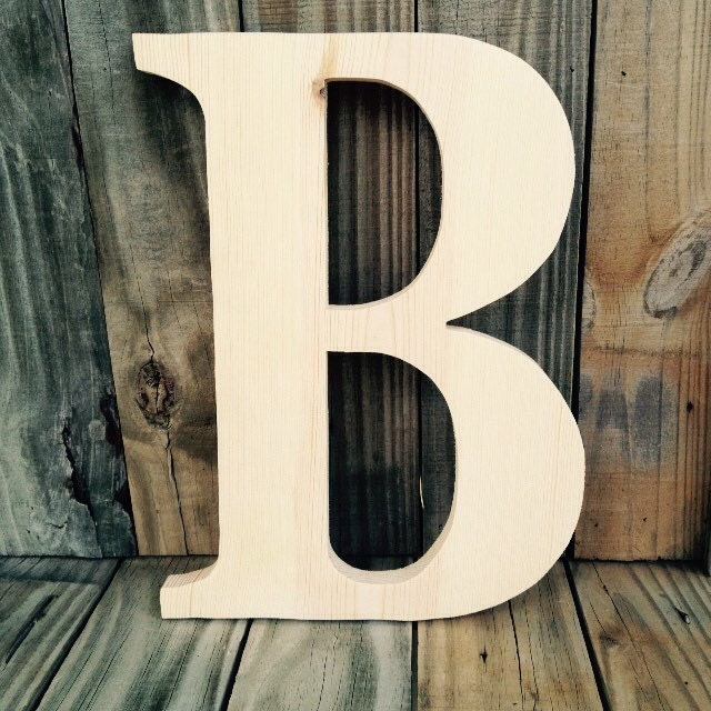 14 Inch Unfinished Wooden Letters