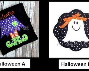 Halloween Shirts or Bodysuits - 8 NEW Designs to Choose From - Prices Includes Name or Monogram!!!!