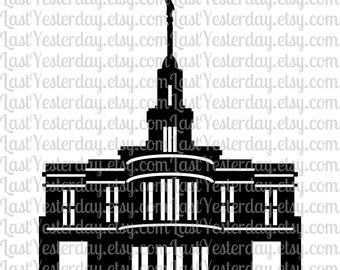 LDS Payson Temple DIGITAL DOWNLOAD svg dxf jpg png