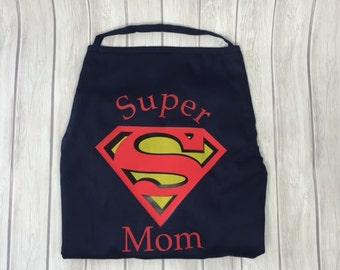 Super Mom Apron, Mom Apron, Superman Apron