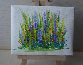 Tiny Purple Flowers Painting