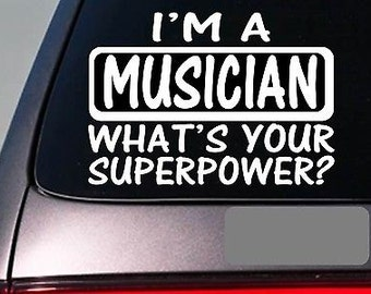 I'M A Musician Sticker Decal *E163* Piano Microphone Pa System Guitar Drums