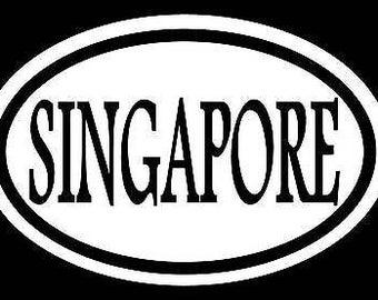 Singapore Sticker Decal Olympics Asain Sticker