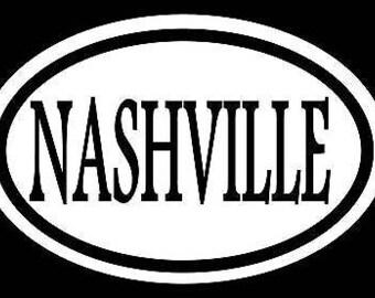 Nashville Sticker Decal Tennessee Country Music Urban Chesney Mcgraw Grammy Mic