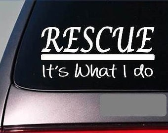 Rescue Sticker Decal *E273* Pit Bull Greyhound Dog Cat Shelter Dogpound Wormer