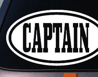 Captain Sticker Decal Boating Yacht Ship Cruise Team Soldier