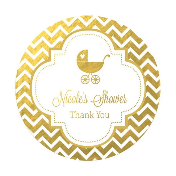 labels silver gold foil baby shower stickers foil labels foil