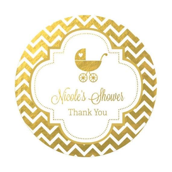 labels silver gold foil baby shower stickers foil labels foil