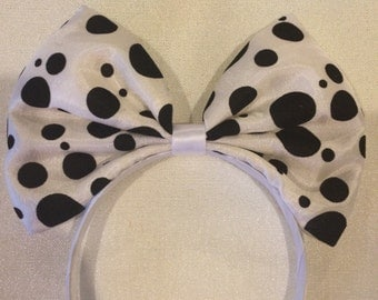 Polka Dot Big Bow Headband for Teens to Adults