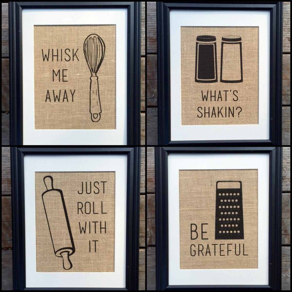 Gift For Kitchen Choose Four Funny Kitchen Home Decor Burlap Print Wall Decor