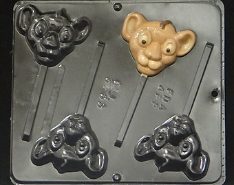 Lion King Baby Lion Lollipop Chocolate Candy Mold 3353