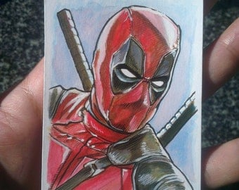 Custom Character Commission Colour 2.5x3.5 inch Trading Card ACEO Illustration