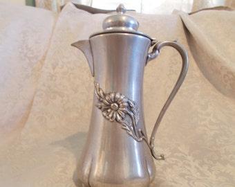 Quadruple Silver Plated Floral Teapot (1430)