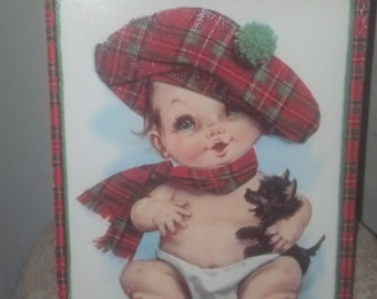 Scotland baby greeting card