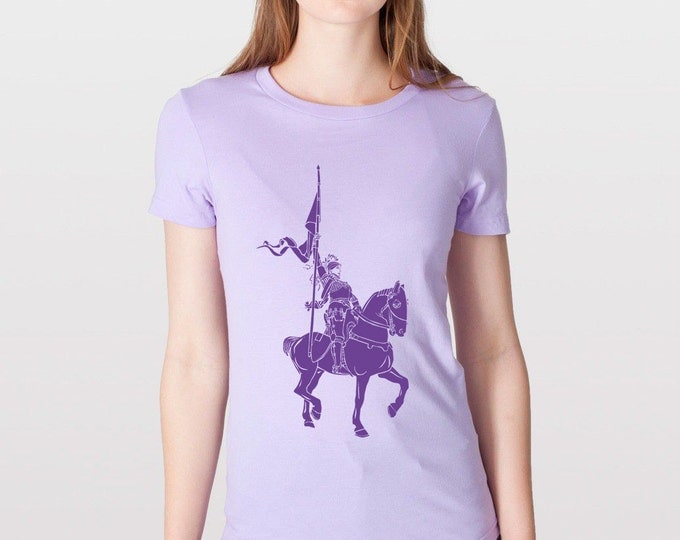 KillerBeeMoto: Joan Of Arc On Her Charger Horse T-Shirt