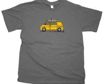 Men's VW T4 Camper Van T-Shirt - Choice of van colours!