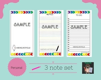 Filofax Personal Note Set - 3 pack