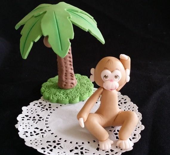 Elephant Cake Topper, Jungle Cake Topper, Blue Elephant Baby Shower, Safari Cake Topper, Pink