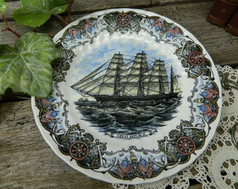 "Vintage Great Republic Currier and Ives 10"" Plate - Tall Ships - Heritage Mint LTD. Collectibles -  Churchill - England"