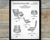 Eames Upholstered Chair Patent, Eames Upholstered Chair Poster, Eames Upholstered Chair Print, Eames Upholstered Chair Art P172