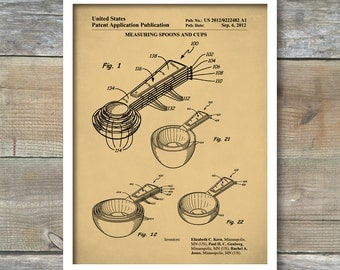 Patent Print, Measuring Cups Poster, Measuring Cups Patent, Measuring Cups Print, Measuring Cups Art, Kitchen Art, Kitchen Decor P126