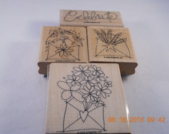 Send a Celebration Stampin' Up!  4 piece stamp set gently used
