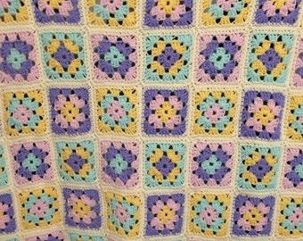 Granny Square Crochet Baby Blanket